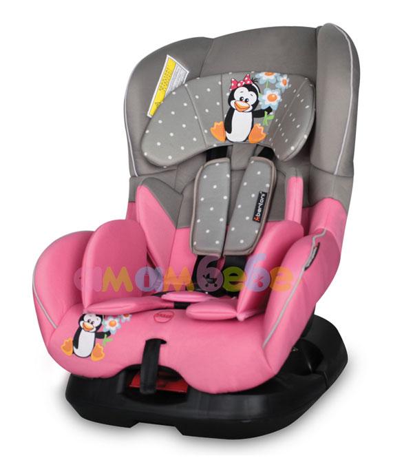Lorelli - лорели стол за кола бъмпър сив и розов пингвин